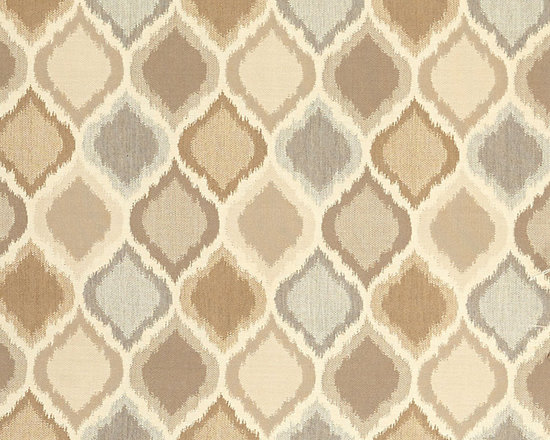 "Ballard Designs - Diamond Ikat Taupe Sunbrella Fabric by the Yard - Content: 100% Sunbrella® Acrylic. Repeat: Railroaded fabric, 8.87"" Repeat. Care: Spot clean with mild soap. Width: 54"" wide. Gray, cream and taupe ikat printed on washable, easy-care Sunbrella acrylic.Content: 100% Sunbrella Acrylic. . . . Because fabrics are available in whole-yard increments only, please round your yardage up to the next whole number if your project calls for fractions of a yard. To order fabric for Ballard Customer's-Own-Material (COM) items, please refer to the order instructions provided for each product.Ballard offers free fabric swatches: $5.95 Shipping and Processing, ten swatch maximum. Sorry, cut fabric is non-returnable."
