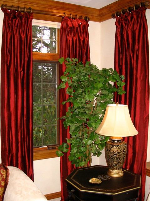 Asian Style Window Treatments http://www.houzz.com/photos/1703079/Window-Treatments-Designed-by-Michael-John-traditional-curtains-milwaukee