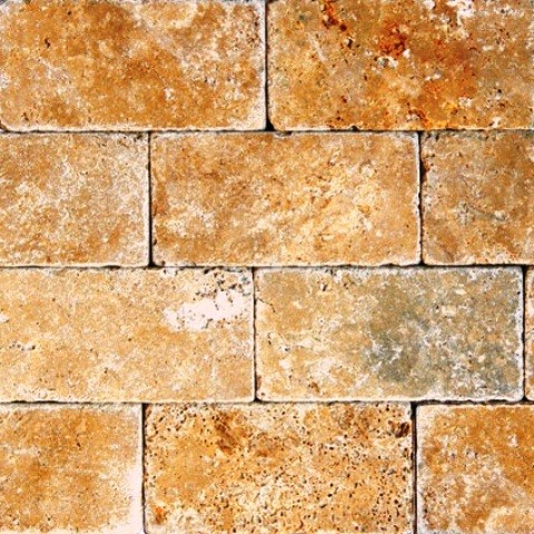 50 Set of Tuscany Gold 3X6 Tumbled modern-wall-and-floor-tile