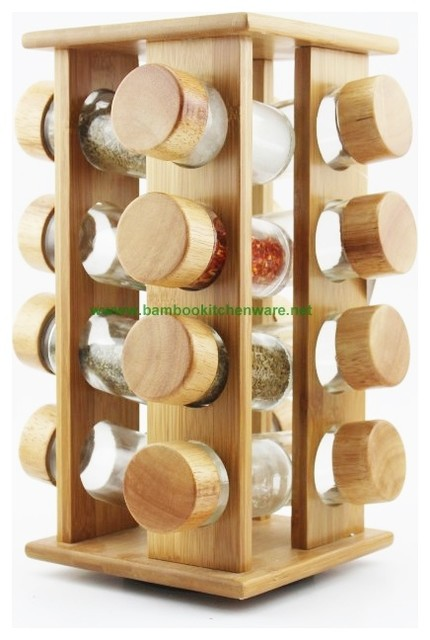 Bamboo Glass Spice Set - Contemporary - Spice Jars And Spice Racks - other metro - by Bumboo Box Inc