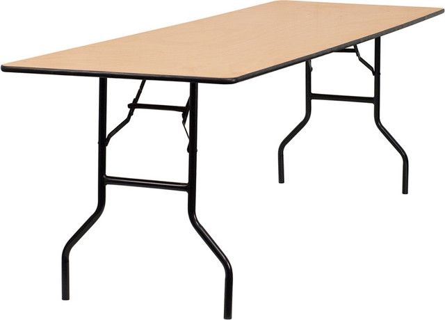 96 39 39 rectangular wood folding banquet table with clear - Folding dining table wood ...