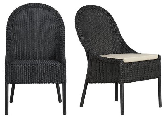 Augusta Side Chair and Cushion | Crate&Barrel contemporary dining chairs and benches