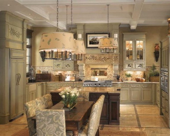 GE - GE Monogram English Country Kitchen - Beautiful and elegantly inviting English country kitchen. Get kitchen design inspiration by visiting CAFD's award winning showrooms in Southington, CT. www.cafd.com