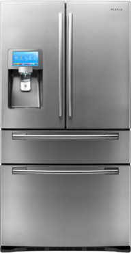 """28 cu. ft. 4-Door Refrigerator and 8"""" LCD Digital Display with Apps refrigerators-and-freezers"""