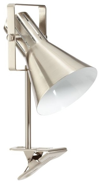 Colorful Clip Lamp, Nickel modern-table-lamps