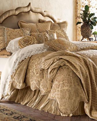 SWEET DREAMS. Kedleston Bed Linens Damask Pillow, 17Sq. traditional-bed-pillows