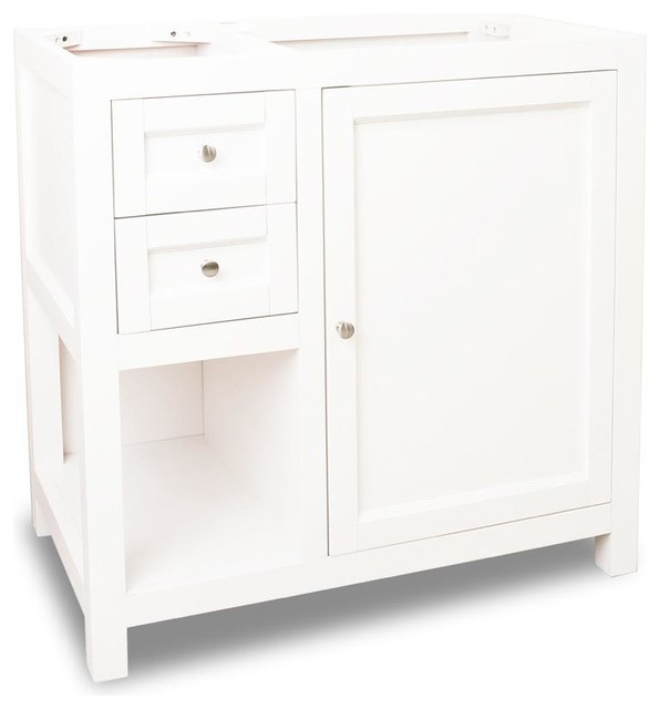 Jeffrey Alexander Astoria Modern Vanity In Cream White Vanone Six Traditional Bathroom