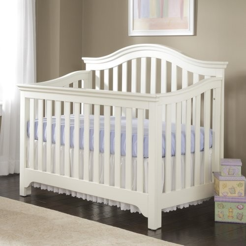 Creations Baby Mesa 4 in 1 Convertible Crib - Off White traditional-cribs