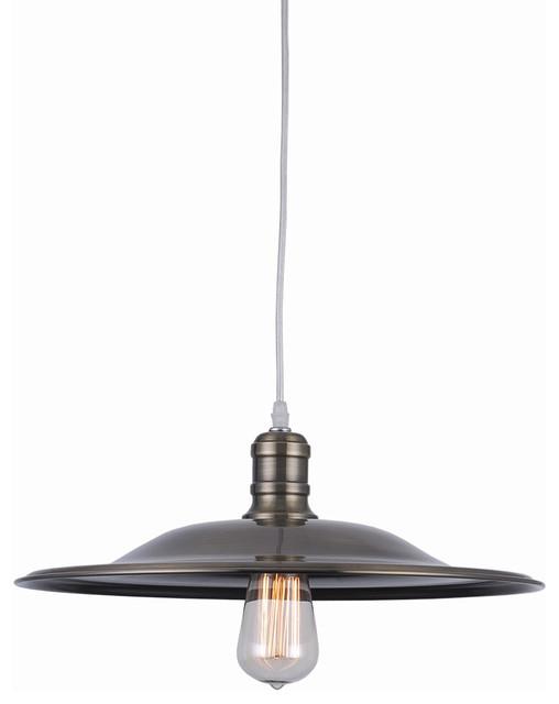 Bromi Design Astor Court Industrial Pendant, Antique Brass industrial-pendant-lighting