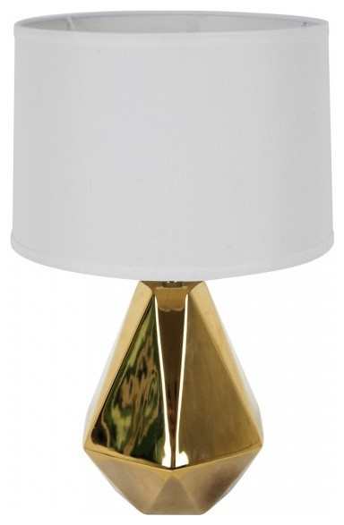 Audrey 1 light Table Lamp GoldWhite Contemporary