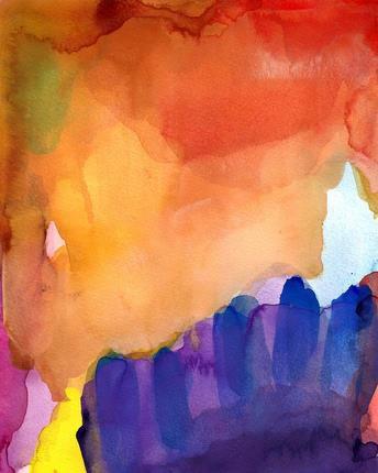 Quiet Memory, Original Watercolor By So Very Happy Art modern-artwork