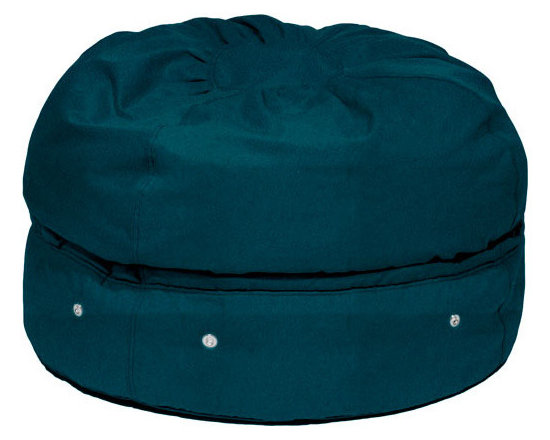 storage beanbag micro-suede - The Storage Beanbag has beans on the top and storage on the bottom. The storage compartment can be used for seasonal clothes, bedding, towels, stuffed animals, costumes, and much more. All unsightly clutter is hidden while you sit on it, use it as an ottoman, or watch the kids play with it. It is perfect for urban spaces, play rooms, bedrooms and dorm rooms where you always seem to lack both storage and seating solutions.
