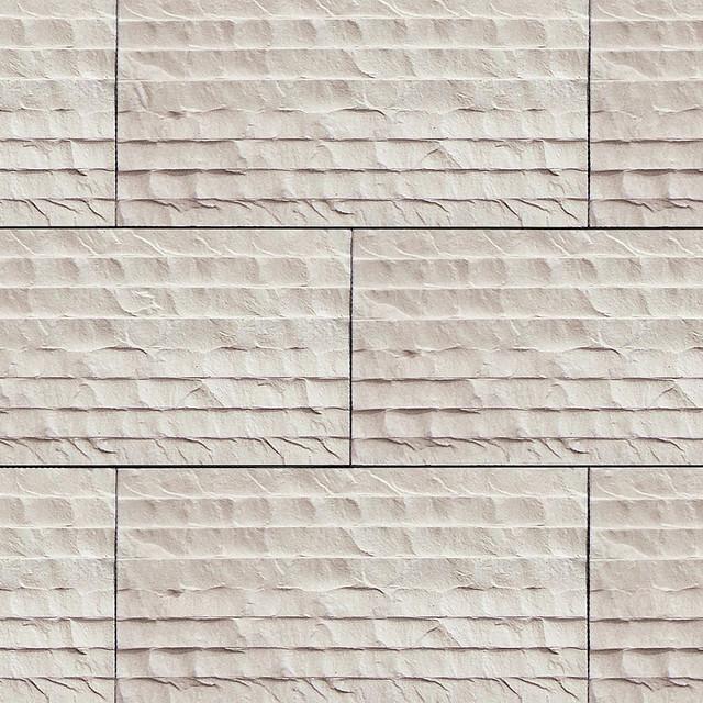 Modern Stone Veneer : Coronado chiseled limestone tile color cream stone