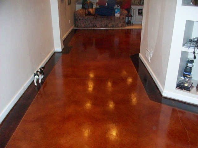 Stained Concrete Flooring Traditional Flooring St