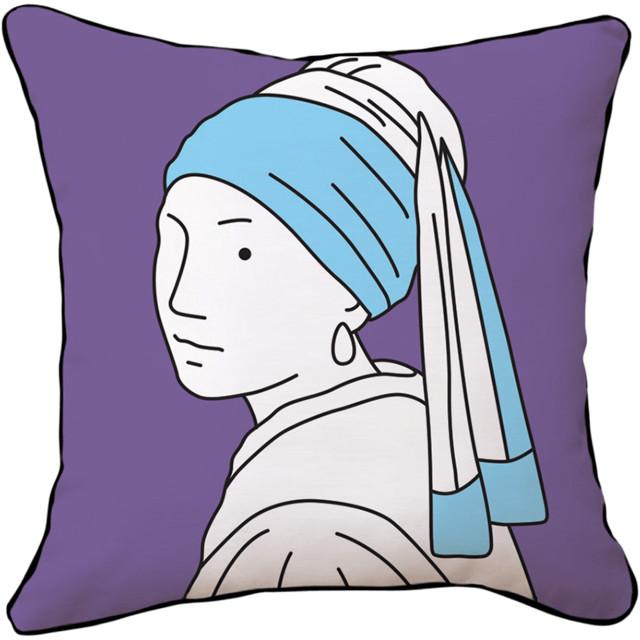 Naked Decor Pearl Girlz Reversible Pillow eclectic-decorative-pillows