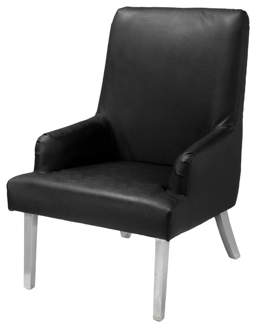 Orlando Black Leather Modern Chair - Modern - Living Room Chairs - by