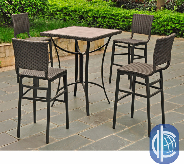 wicker aluminum 32 inch square bar height contemporary dining tables