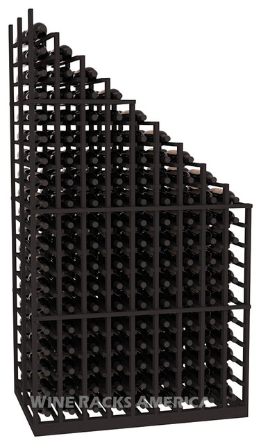 Waterfall Cascading Rack in Pine with Black Stain traditional-wine-racks