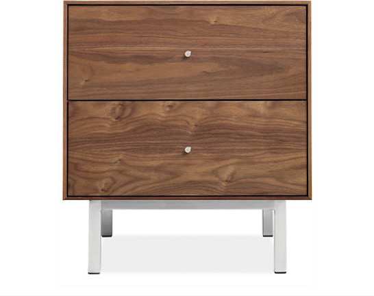 Hudson Steel Base Nightstands contemporary nightstands and bedside tables