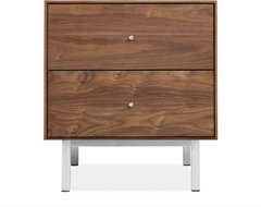 Hudson Steel Base Nightstands contemporary-nightstands-and-bedside-tables