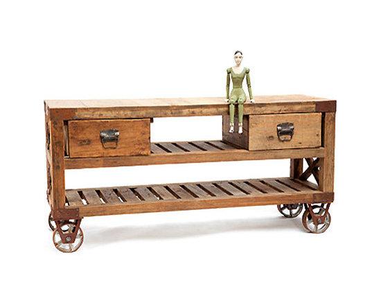 Reclaimed Wood Cart -