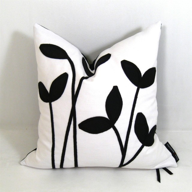 Little Sprout Black and White Indoor Decor Cushion - Modern - Decorative Pillows - vancouver ...