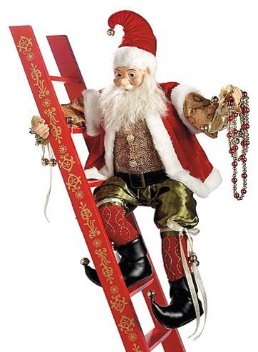Animated Climbing Elf With Ladder Christmas Decorations