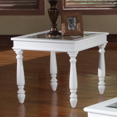 Parker House Alpine Rectangle Cottage White Wood End Table Modern Side Tables And End Tables