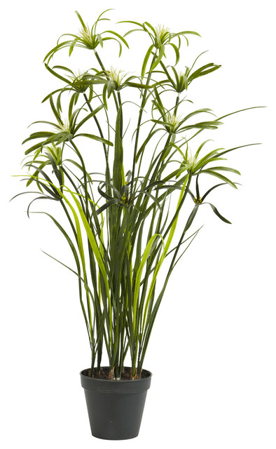 "Nearly Natural 3"" Papyrus Silk Plant traditional-artificial-flowers-plants-and-trees"