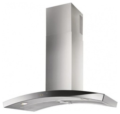"WC35IQ90SB Dune 35 7/16"" Chimney Range Hood with 600 CFM Blower  Two 6-watt LED contemporary-range-hoods-and-vents"
