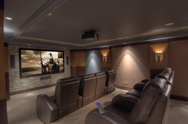 Home Theatre & Media Rooms contemporary media room