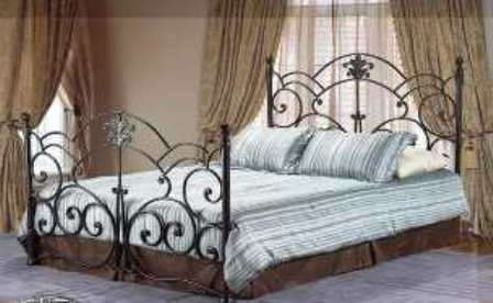 Hilda Bronze Wrought Iron Queen Bed Frame Traditional