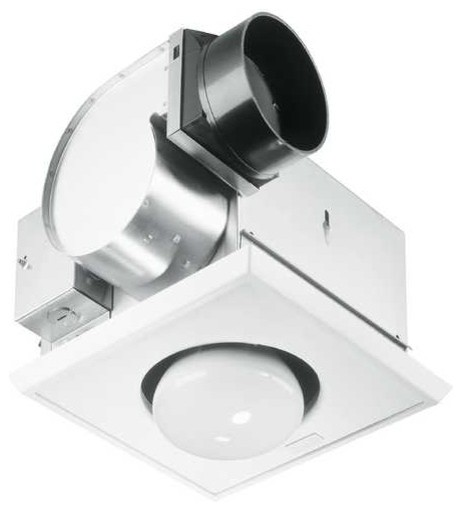 Bathroom 70 CFM Exhaust Fan With Heat Lamp