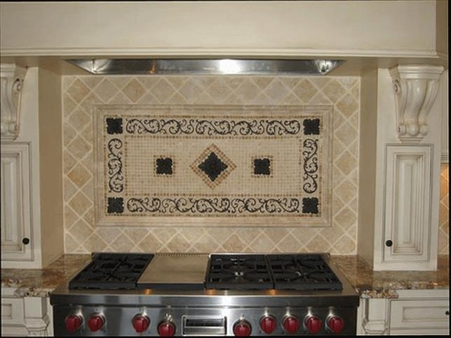 Backsplashes With Metal Mediterranean Tile San Diego