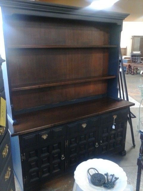 Painted Furniture Welsh Hutch - Eclectic - China Cabinets And Hutches - dc metro - by Picked and ...