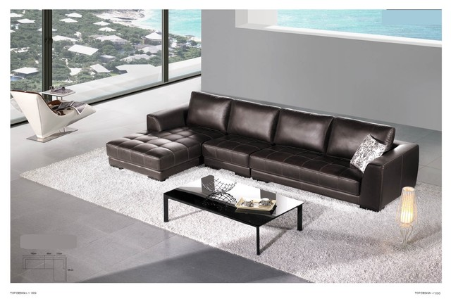 Hemmingway Italian Leather Sectional Sofa Modern Sectional Sofas Los An