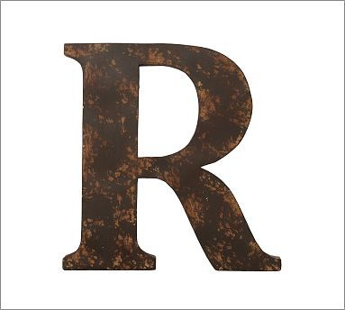 metal letter r traditional decorative pillows by With metal letter r