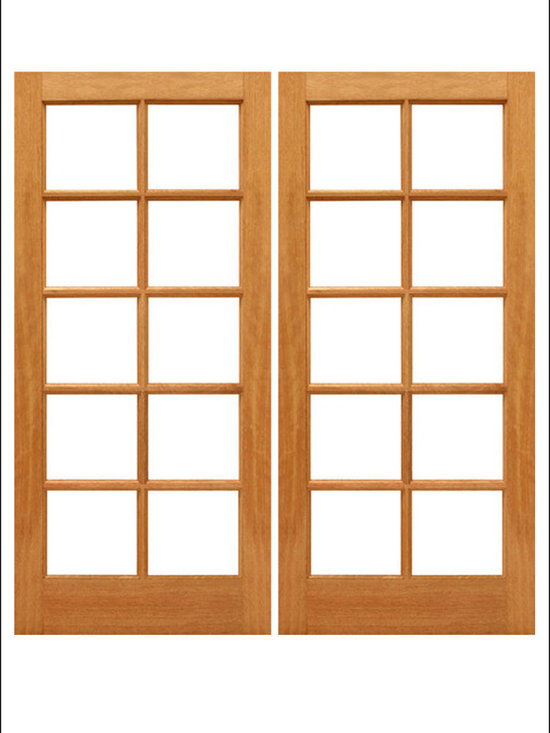 AAW Inc. - French Doors Model # Mahogany 10 Lite - Traditional Styled French doors in Mahogany.  These doors are stainable and paintable and come in multiple sizes in options with including Low-E Glass.  These doors can be used as interior (available under our Interior Glass Doors)  or exterior doors.