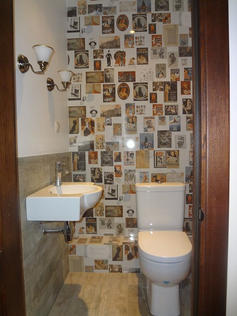 Apartment in Moscow eclectic-powder-room