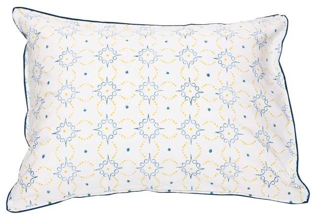 Preston Mimosa/Celestial Blue Standard Pillow Shams (set of 2) farmhouse-pillowcases-and-shams