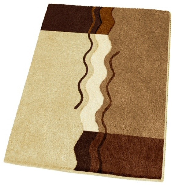 non slip small modern brown bath rug 21 7 quot x 25 6
