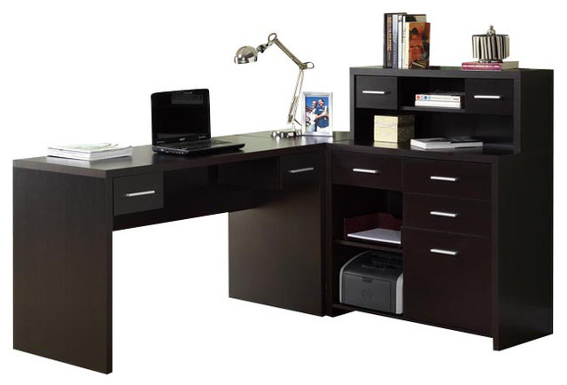 hollow core l shaped home office desk contemporary desks and hutches
