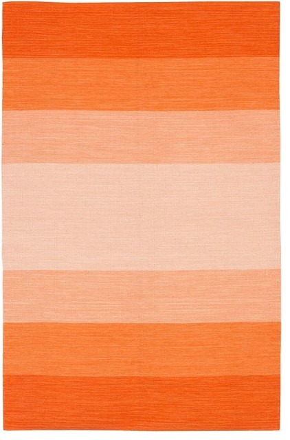 Chandra Rugs India Wide Stripe Rug, Orange contemporary-rugs