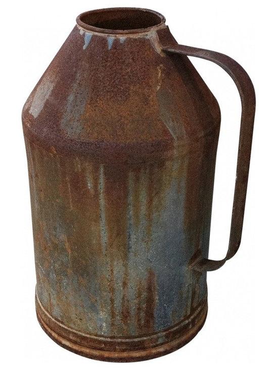 vintage dairy metal creamer jug - Vintage Dairy Farm Milk creamer jug