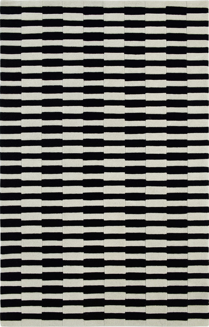 Dynamic Rugs Aria 1118-190 5' x 8' Ivory Black Rug traditional-rugs