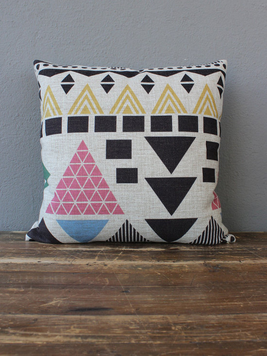 pink pyramid pillow - view this item on our website for more information + purchasing availability: http://redinfred.com/shop/category/detail/throw-pillows/pink-pyramid-pillow/
