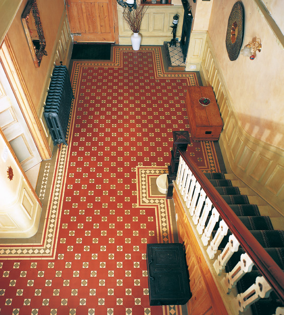 Victorian Floor Tiles - Arundel pattern traditional-entry