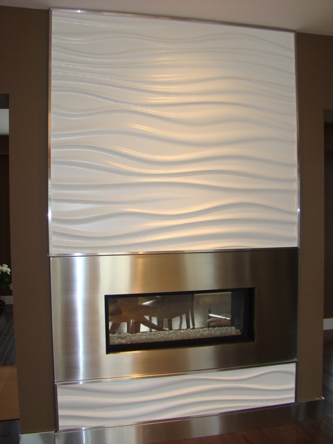 Fireplace - Modern - Indoor Fireplaces - calgary - by Another Dimension Custom Stainless Inc