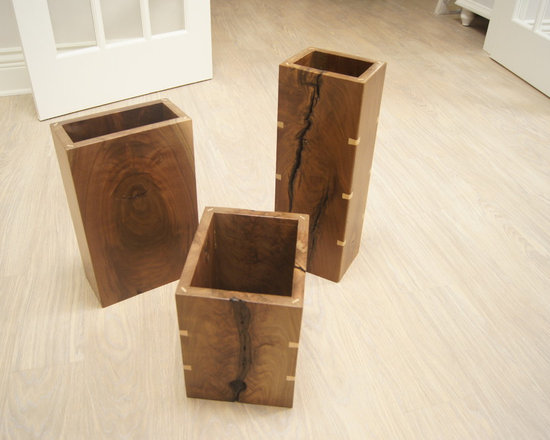 Past Projects - Walnut display vases