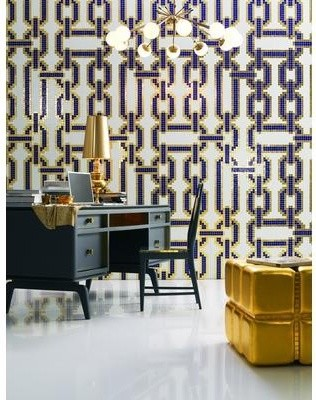Chains Blue Glass Mosaic Glass Mosaic Decoration from Bisazza tile